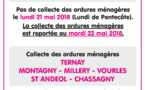 Attention ! Pas de collecte le lundi 21 mai